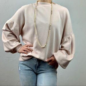 Joie balloon sleeve lightweight sweater sz S/M
